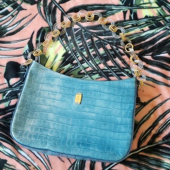 Stubbs & Wootton Handbags - STUBBS & WOOTTON Blue Leather Shoulder Bag